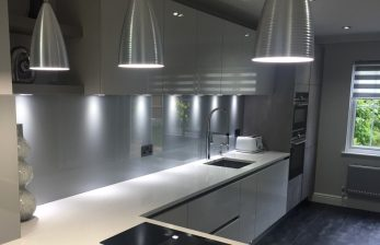 Glass Splashback in Borehamwood